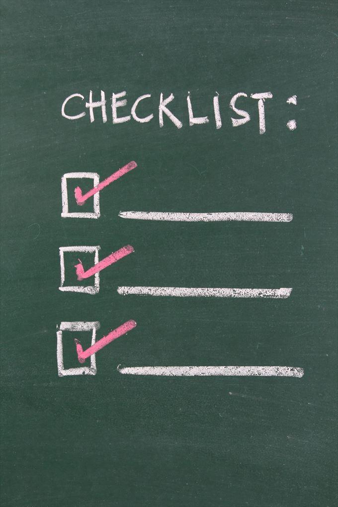 チェックリスト 作り方